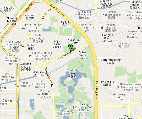 Map of Beijing 2 Kolegas Live Music Venue