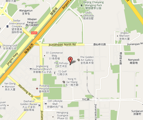 Map of Beijing 798 Live House