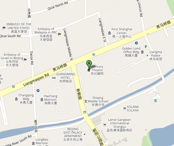 Map of Beijing Century Theatre