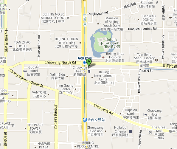 Map of Beijing Chaoyang Theatre