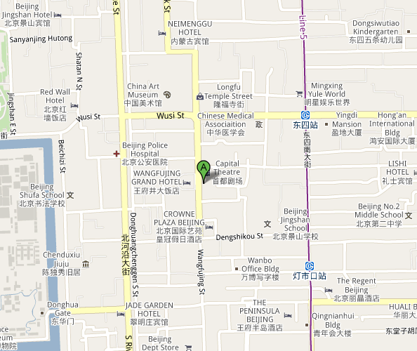 Map of Beijing Gold Sail Concert Hall