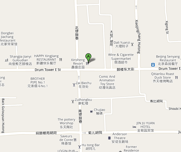 Map of Beijing MAO Live House