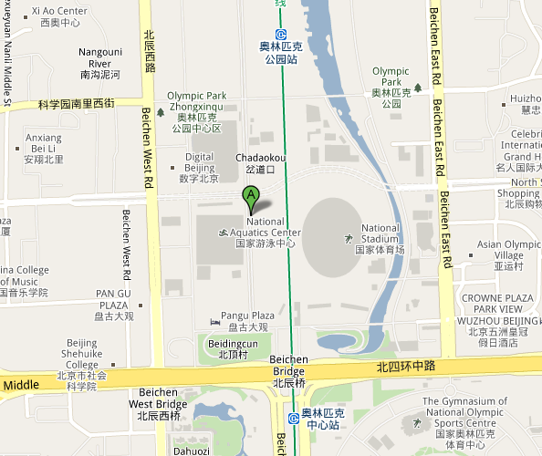 Map of Beijing National Aquatics Center