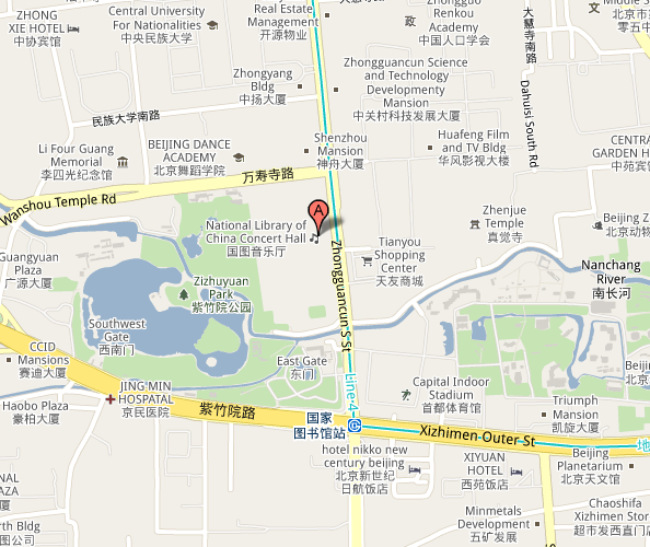 Map of Beijing National Library Concert Hall