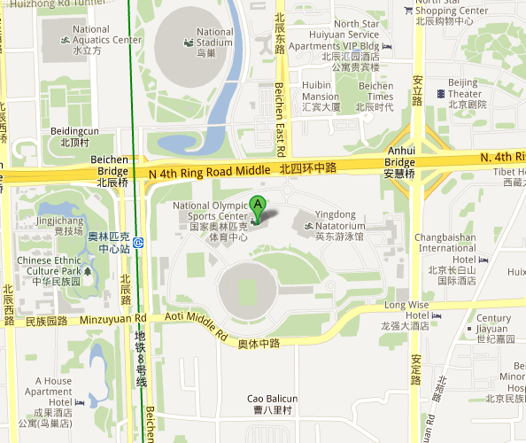 Map of Beijing Olympic Sports Center Gymnasium