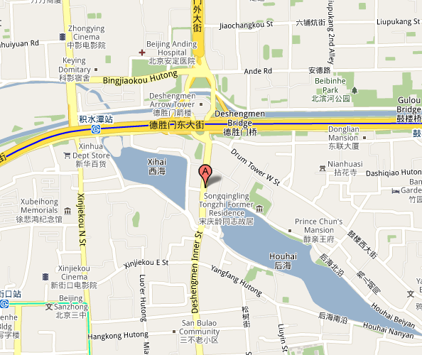 Map of People's Liberation Army Opera House