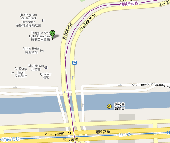 Map of Beijing Star Live Music Hall