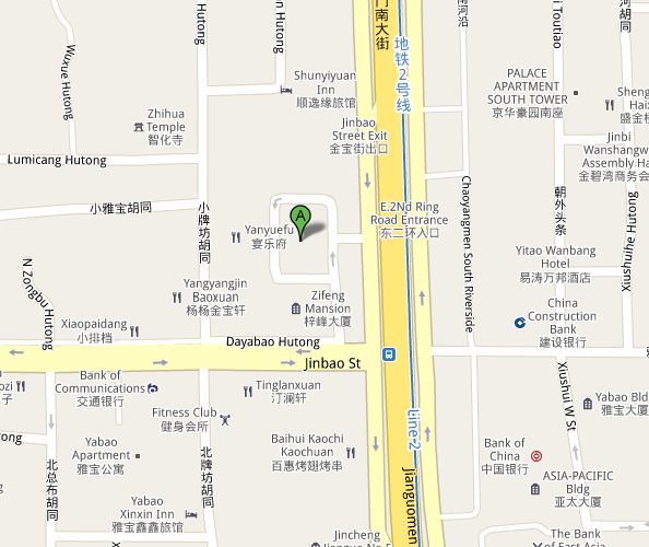 Map of Cultural City of Beijing Night Theatre