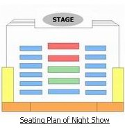 Seating Plan of Beijing Night Show Theatre