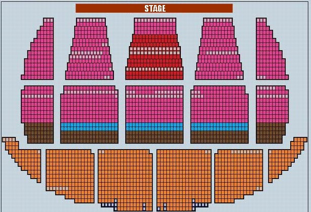Seating Plan of Beijing Exhibition Theatre