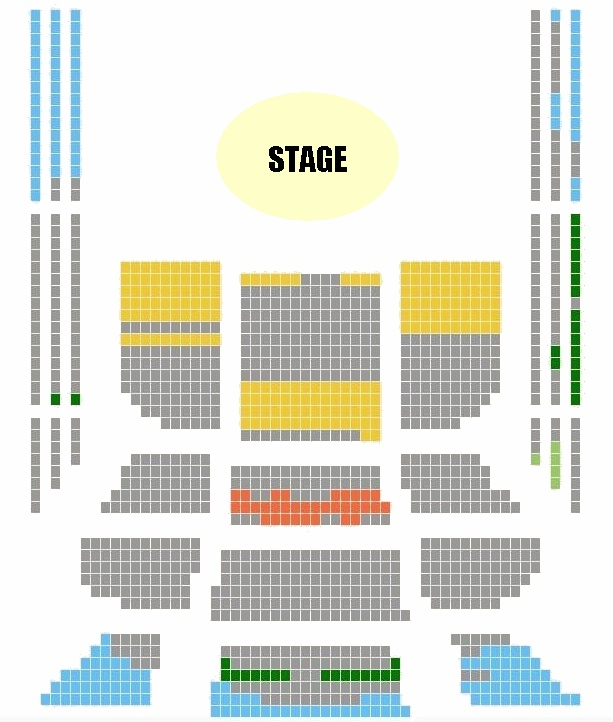 beijing ncpa concert hall seating plan, seating chart and map
