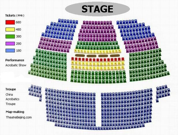 Beijing Tiandi Theatre Seating Plan