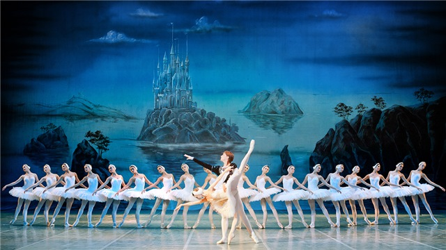 Swan Lake Ballet on the stage